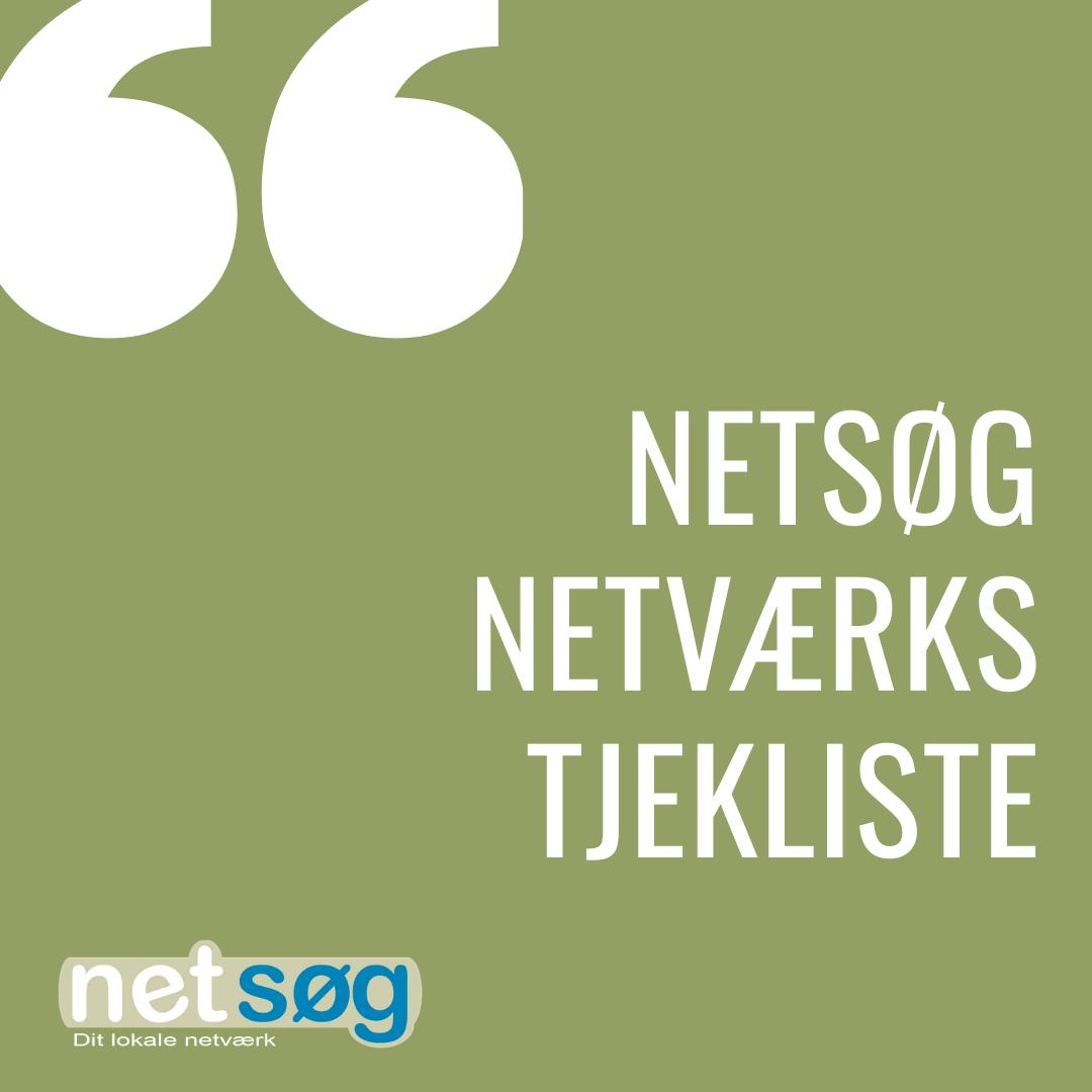Netværks tjekliste