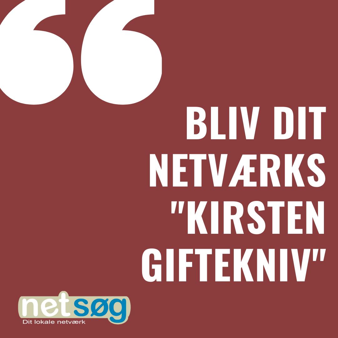 Netsøg netværk Kirsten giftekniv